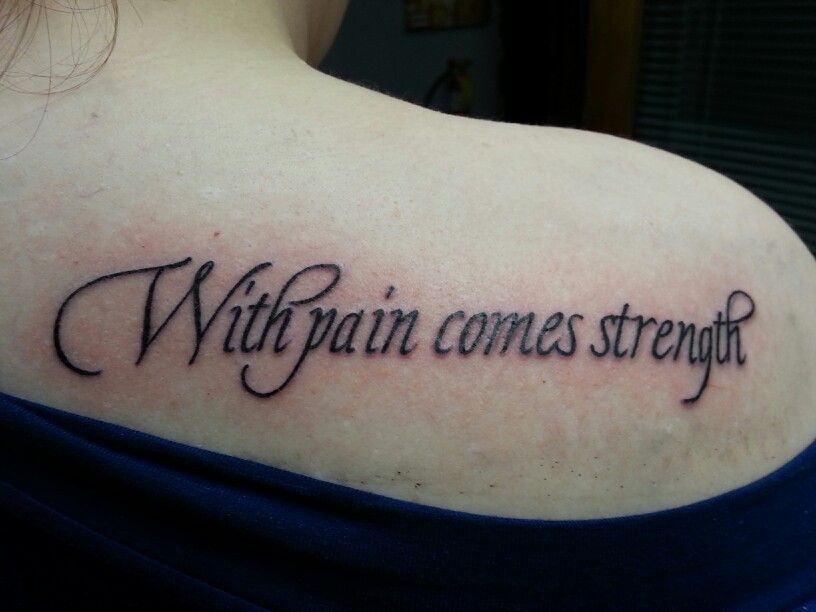Gallery for with pain comes strength chest tattoo for With pain comes strength tattoo