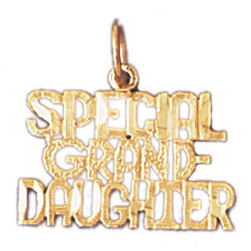 14K GOLD SAYING CHARM - SPECIAL GRANDDAUGHTER #10031