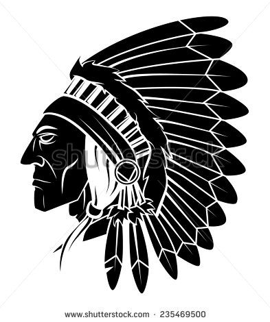 d3ce116ea204f Apache Head Vector Illustration | Native American in 2019 | Indian ...