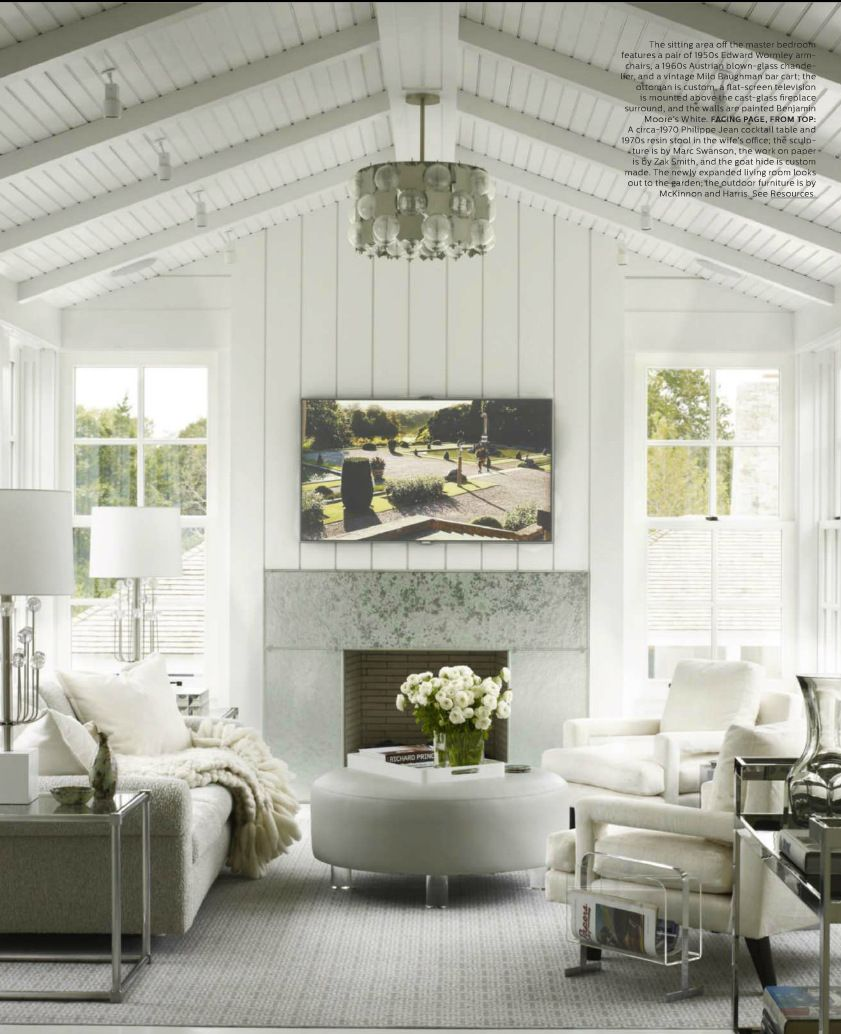 contempoary style living room featured in elle decor uk