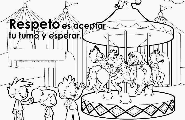 Maestra De Primaria Los Valores Dibujos Para Colorear Por Ninos Pequenos Educar En Valores Dibujos De Los Valores Valor Respeto Para Ninos