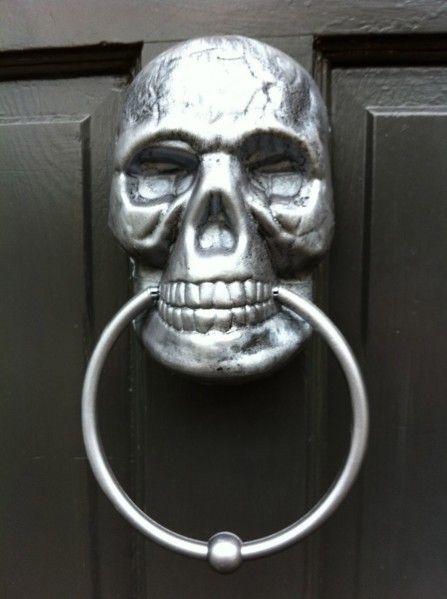 Make A Painted Skull Door Knocker Halloween Door Decorations Halloween Door Dollar Store Halloween