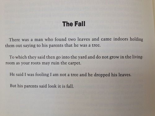 The Fall Russell Edson