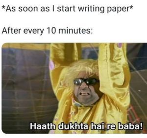 That Pain In Hands During Writing In Answer Sheet
