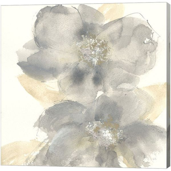 Metaverse Art Floral Gray II Gallery Wrap Canvas Wall Art ($170) ❤ Liked On