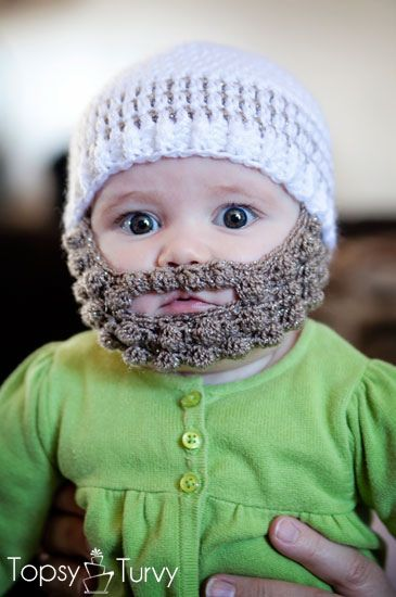 Crochet Bearded Beanie Pattern Free Baby Crochet Patterns