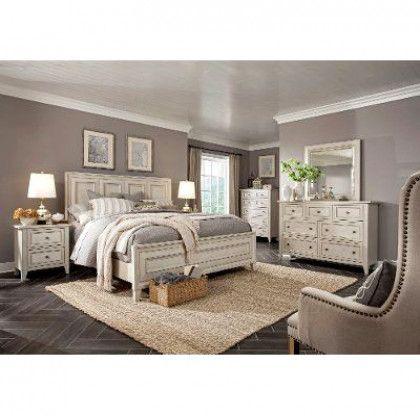 White 4 Piece California King Bedroom Set Raelynn California King Bedroom Sets King Bedroom