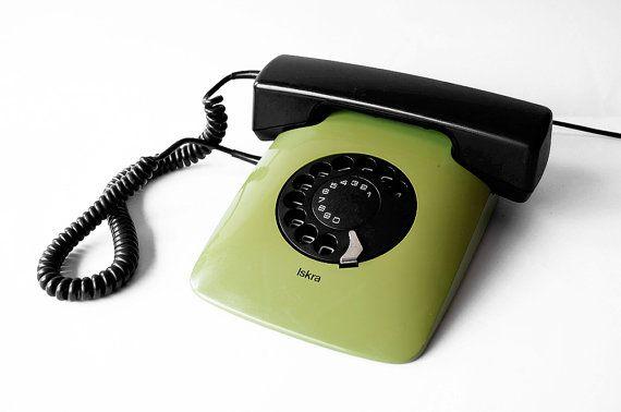 ISKRA ETA 80 82 Telephone Yugoslavia Phone Rotary Handset Olive Green Device Designer Collectible Soviet Landline 80s Vintage – ETSY RetroSparkShop