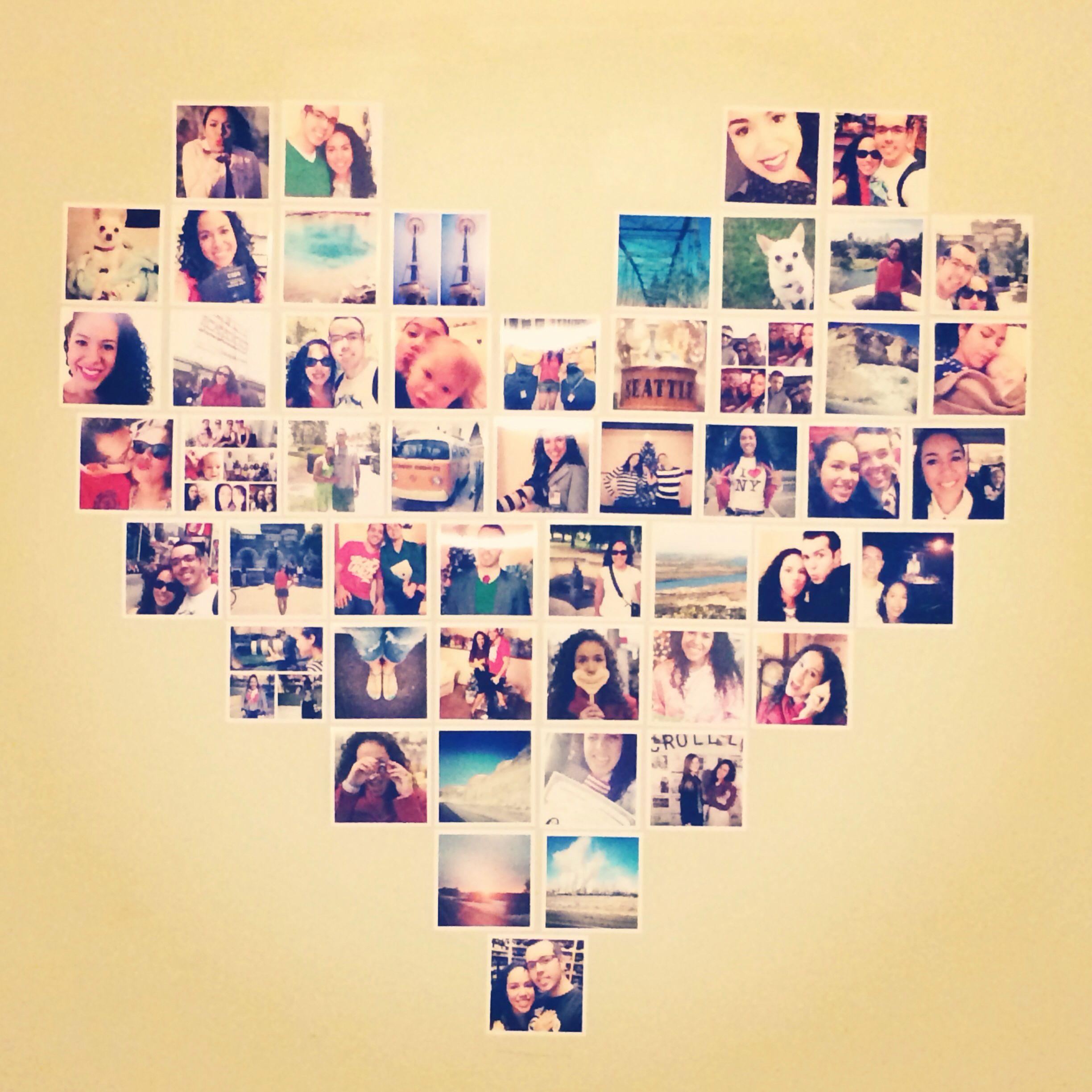 Heart made out of pictures for wall decor | Home Makers | Pinterest ...