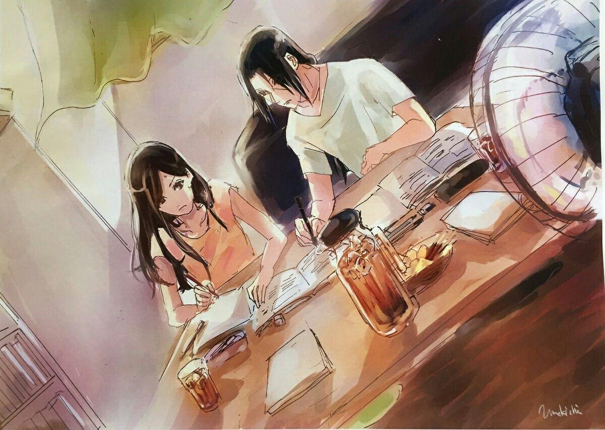 anime, naruto shippuden, itachi and izumi, itaizu, couple ...