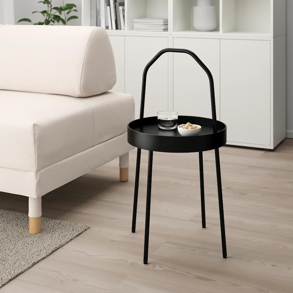 Burvik Beistelltisch Schwarz Ikea Deutschland In 2020 Beistelltisch Schwarz Beistelltische Beistelltisch