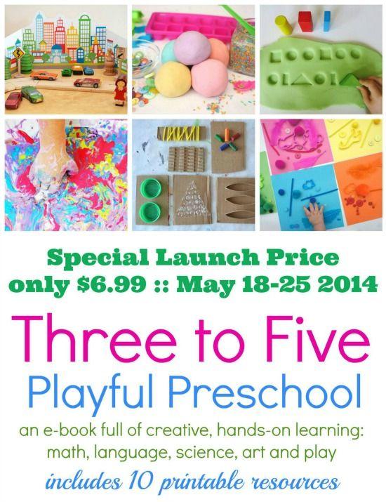 3-5 ebook for preschoolers  Over 25 activities 10 printables!