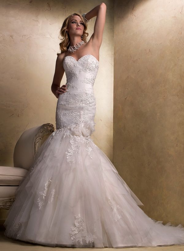 Maggie Sottero Fit and Flare Wedding Dresses   Maggie sottero ...