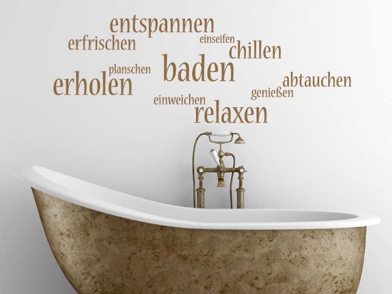 Wandtattoo Erholung! Wortwolke - Wandtattoos Fürs Badezimmer