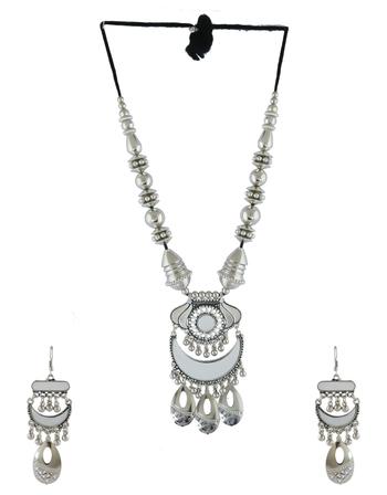 NAVRATRA dandiya Garba oxidised white metal Indian jewelry jewellery OXIDIZED