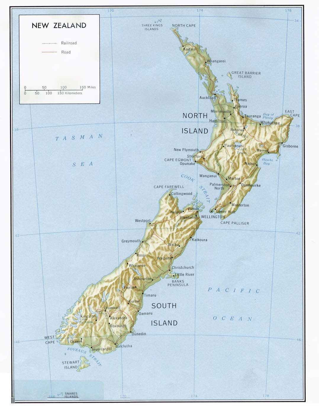 new zealand map - Free Large Images | Wedding Gift Projects ...