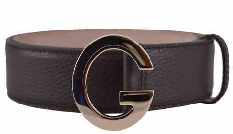 60f31460eeb New Gucci Women s 362732 Brown Textured Leather G Buckle Belt 36 90 ...