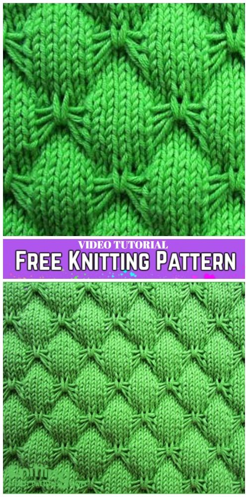 Knit Butterfly Stitch Blanket Free Knitting Pattern -Video Tutorial ...