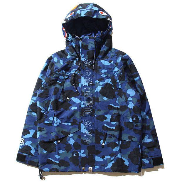 81b9c1cdfb38 BAPE X MMJ BLUE CAMO SNOWBOARD JACKET
