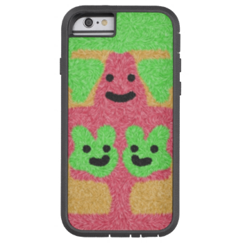 A colorful abstract pattern with three faces a red creature holding two green faces for a different and unique look on a orange and green background. You can also customize it to get a more personal look. #face #faces #creature #colorful #trendy #stylish #three-faces #multicolored #green #red #orange