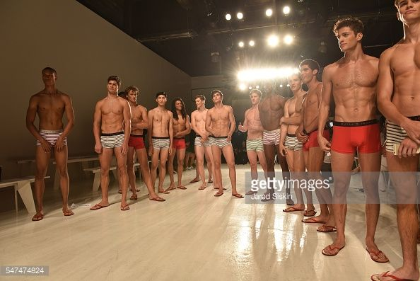 News Photo : Models rehearse at Parke & Ronen - Backstage -...