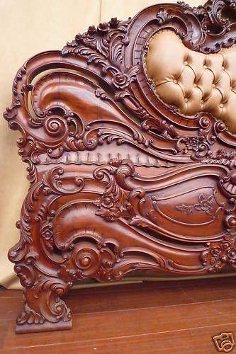 Vintage Wooden Headboard