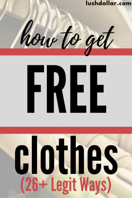 26+ Simple Ways to Get Free Clothes (No Surveys Free