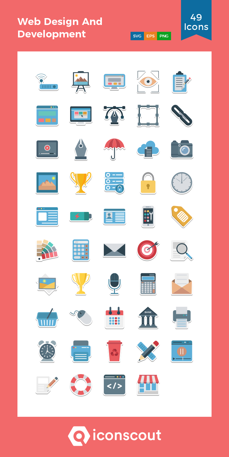 Download Web Design And Development Icon Pack Available In Svg Png Eps Ai Icon Fonts Web Development Design Web Design Icon Pack