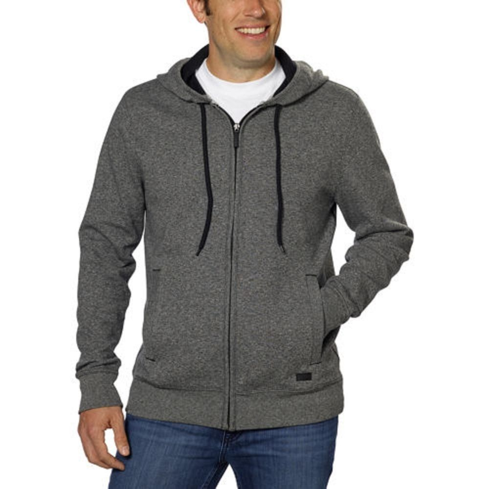 f259811db5c5 DKNY Jeans Men s Full Zip Hooded Sweatshirt - Charcoal GRAY XL NEW   DKNYJeans  Hoodie