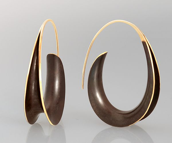 e34885559 Bronze Oval Earrings: Nancy Linkin: Gold & Bronze Earrings | Artful Home