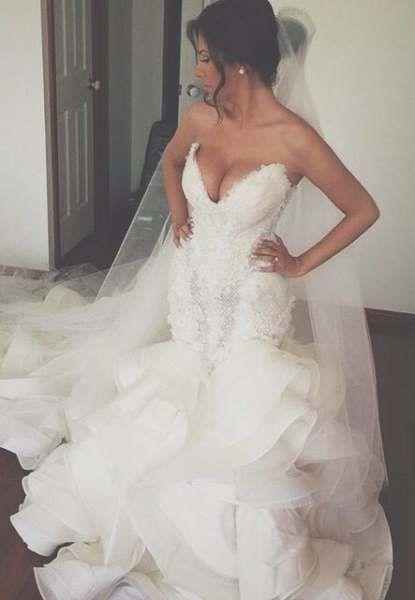 Meerjungfrau Brautkleid: Das 50 sind die schönsten | Wedding dress ...