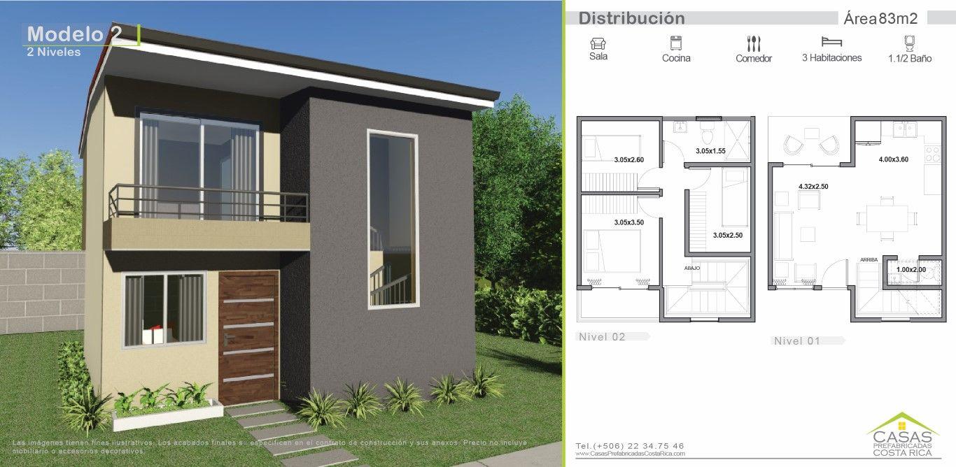 Modelos de casas de dos pisos casa en 2019 modelos de for Casas prefabricadas pequenas