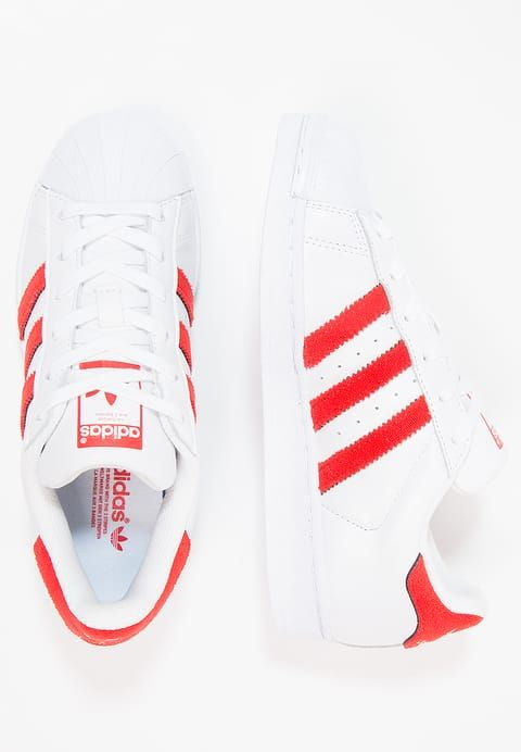 promo code d9e57 cdef6 adidas Originals SUPERSTAR - Trainers - footwear whitesolar red for £52.49  (01