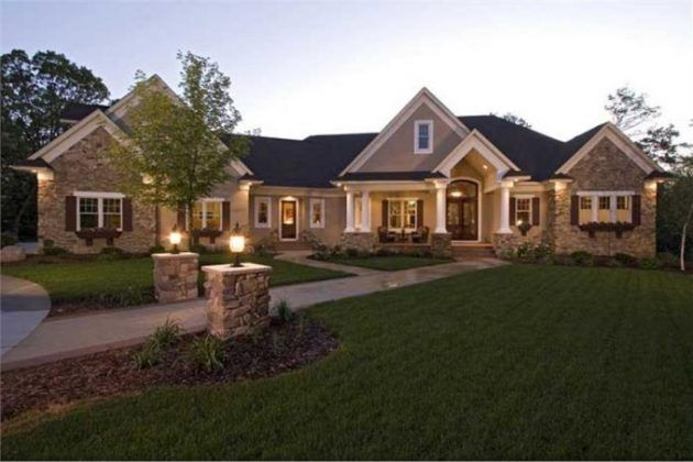 15 One Floor Houses Which Are More Than Amazing Luxury House Plans Craftsman House Ranch Style Homes