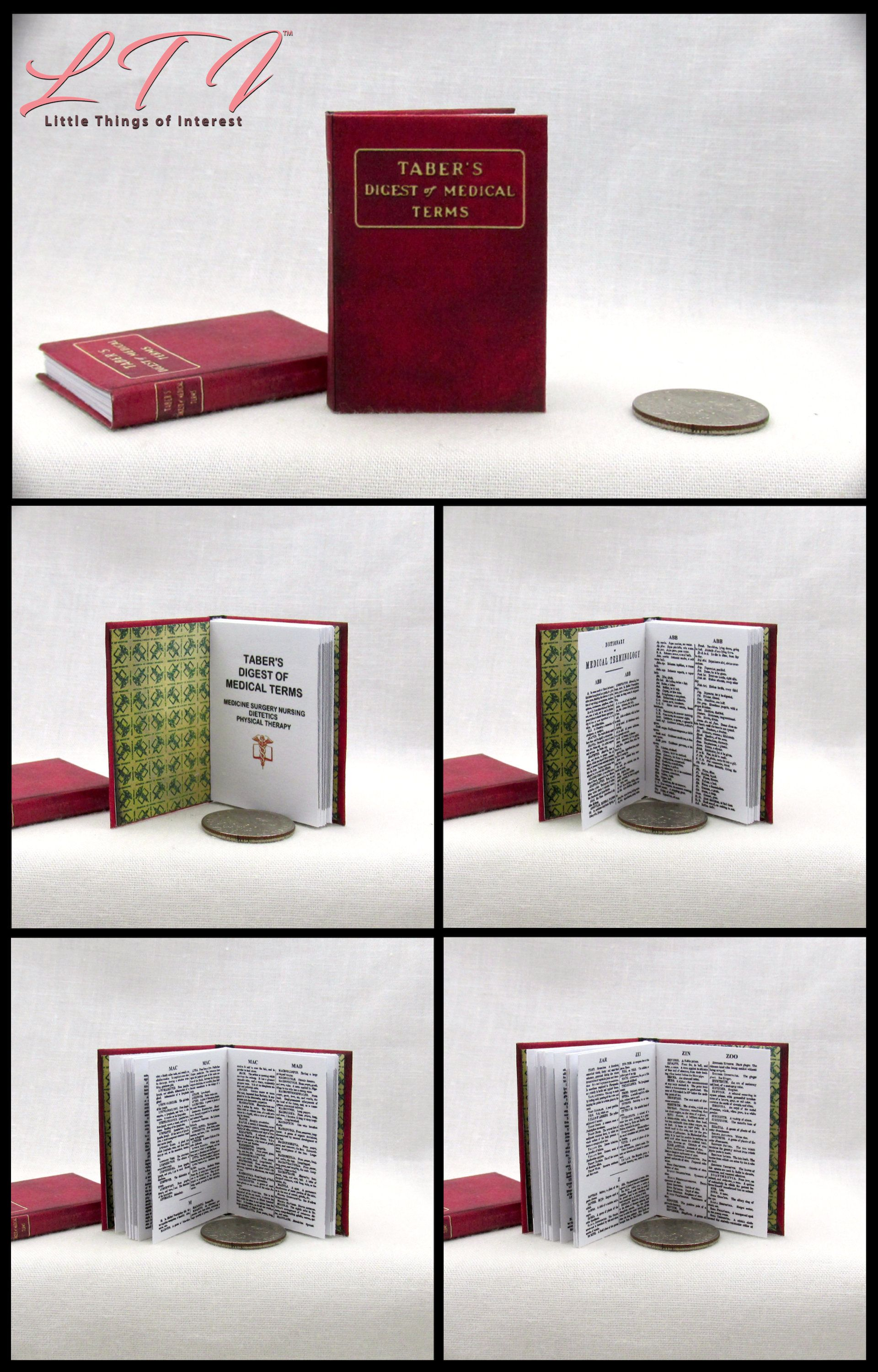 MEDICAL DICTIONARY 1:6 Scale Book Readable Miniature Medical Book Doctor Office Health Medical Nurse Biology Human Body #miniaturemedical
