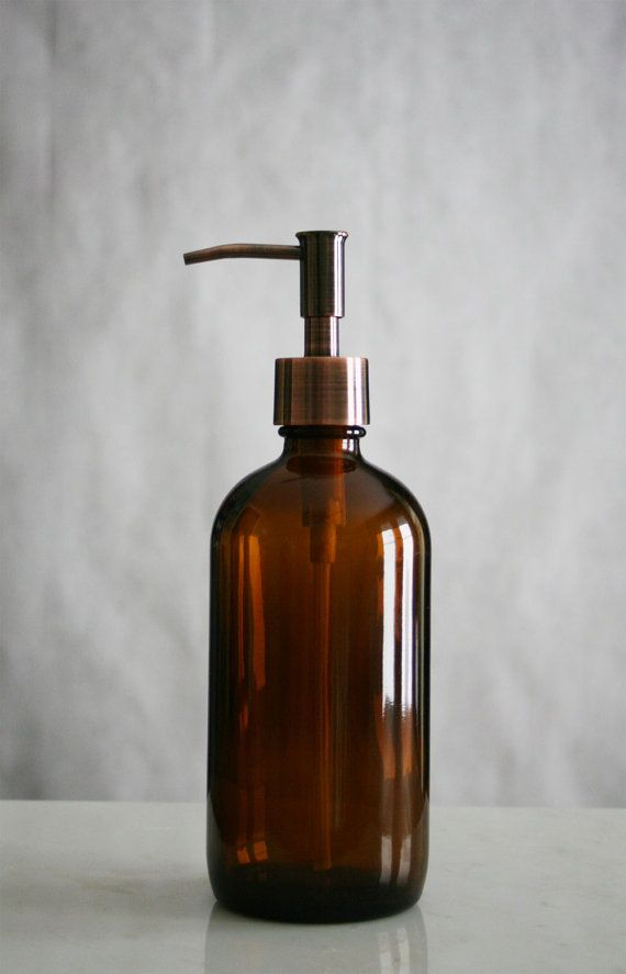 Soap Dispenser Amber Market Glass Apothecary Style Soap