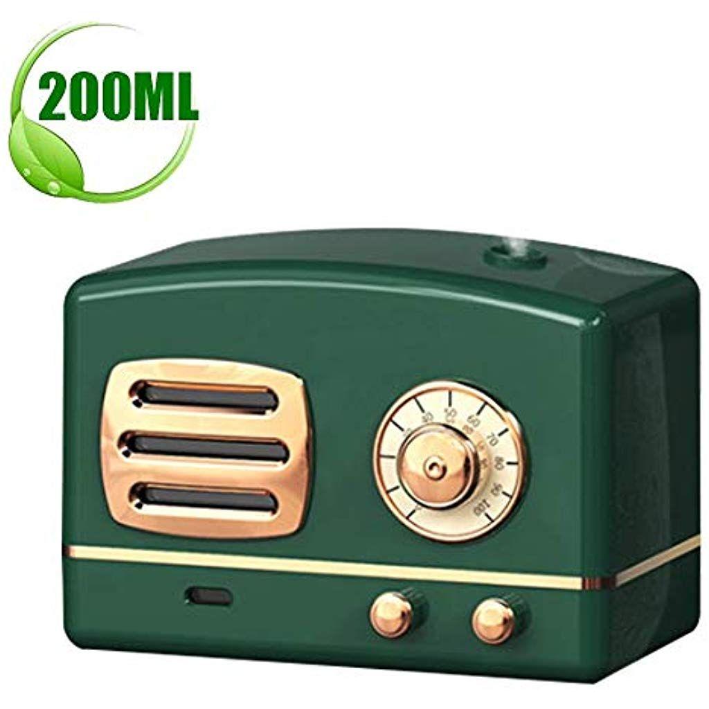 Humidificateur b/éb/é Green Humidificateur dair maison AIGUO Humidificateur Mini purificateur dair Humidificateur dair 200ML 8-12 Heures Temps de Fonctionnement Brume Fra/îche Super Silencieux.