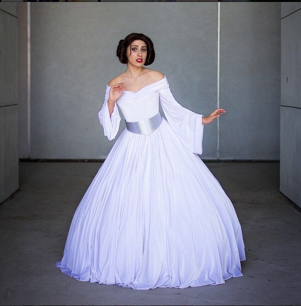 This is the perfect gown for a Star Wars themed wedding gown by ...