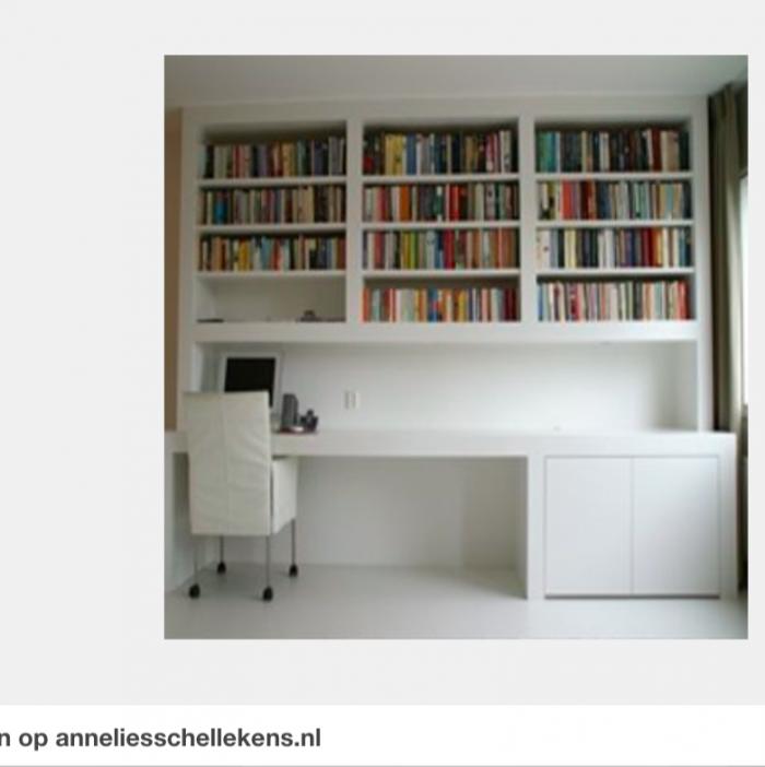 Werkplek in woonkamer woonkamer pinterest werkkamer bureaus en interieur for Mezzanine in de woonkamer