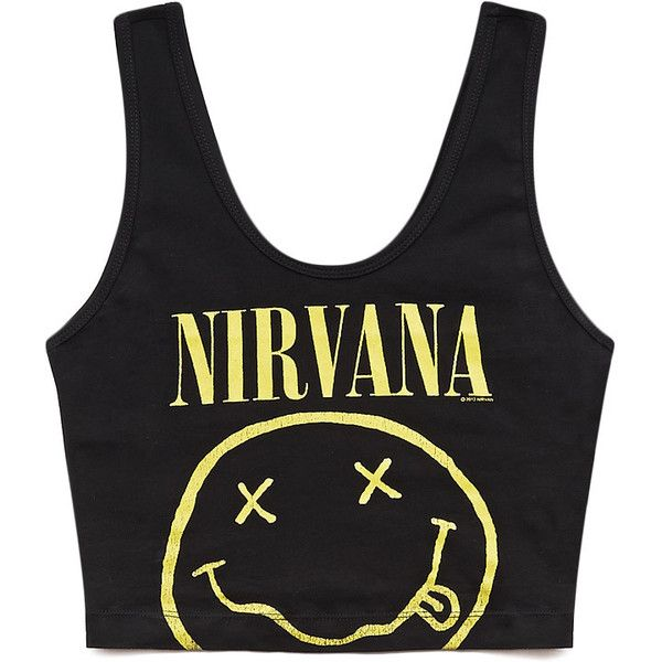 e2ff12102ac FOREVER 21 Throwback Nirvana Crop Top | I Want. | Moda
