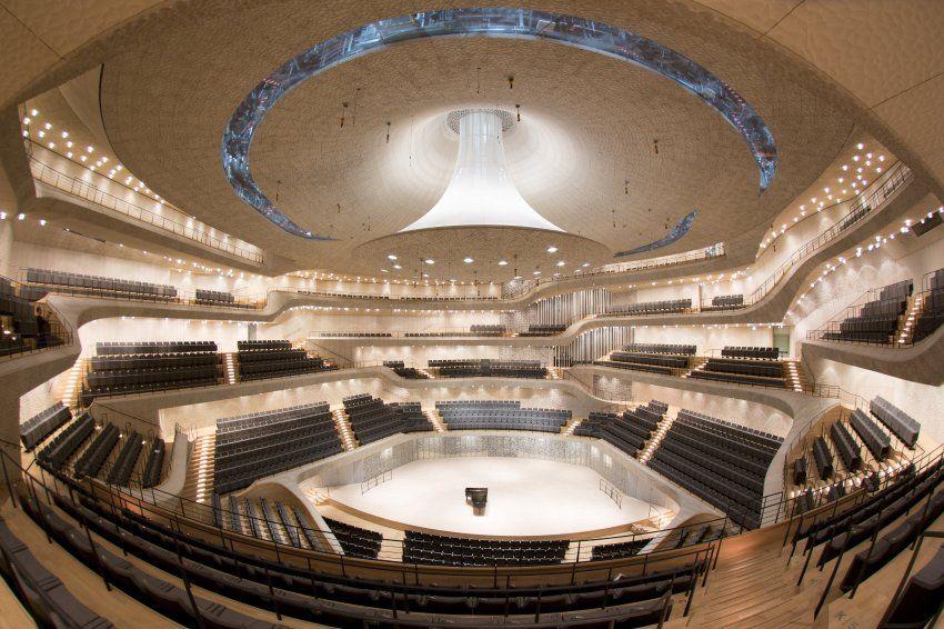 Grosser Saal 2100 Sitzplatze Einzigartige Akustik Optimaler Hohrgenuss Auf Jedem Einzelnen Platz Kein Zuschauer Is Akustik Spiegel Hamburger Elbphilharmonie