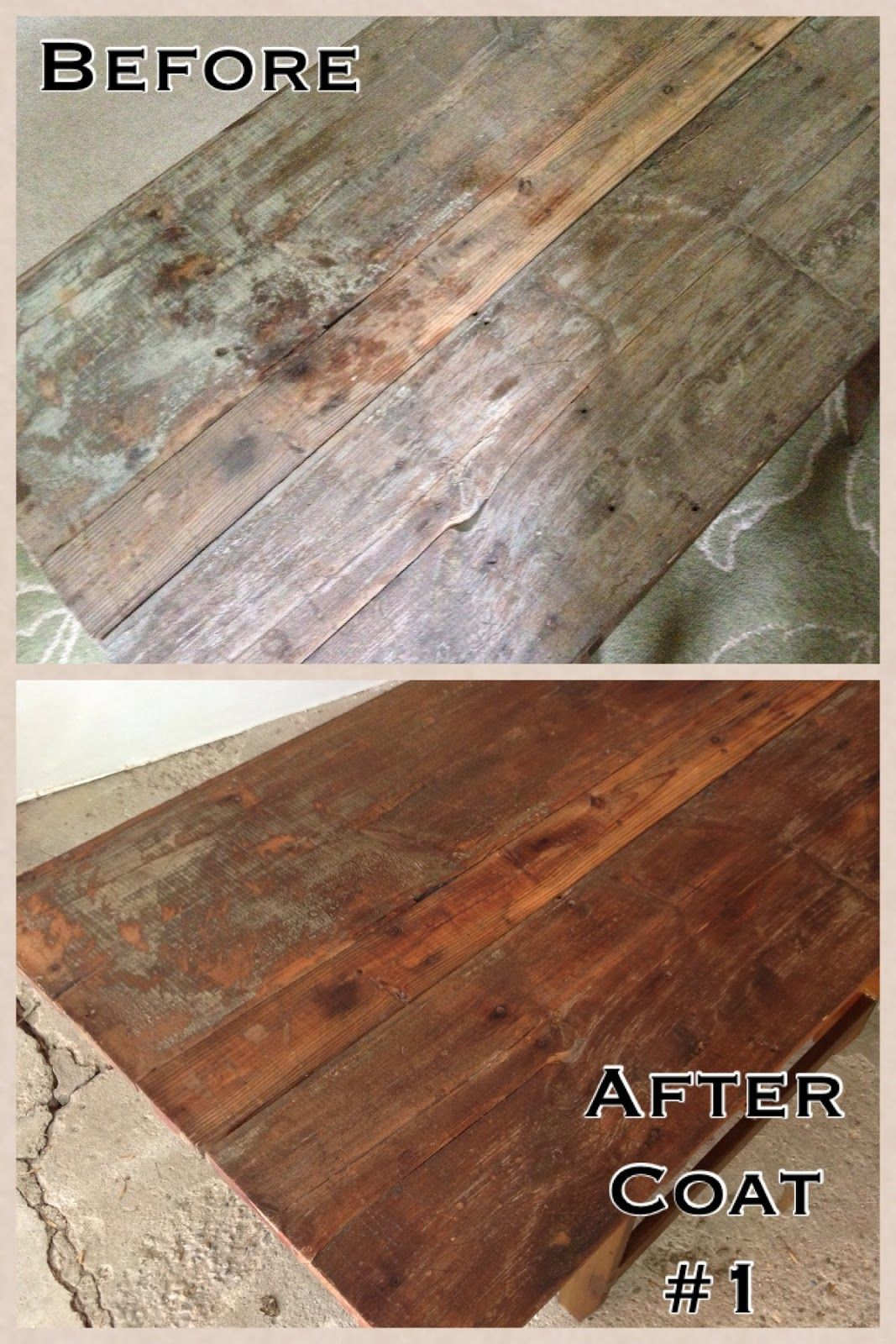 Felicity defined refinishing an old table using tung oil