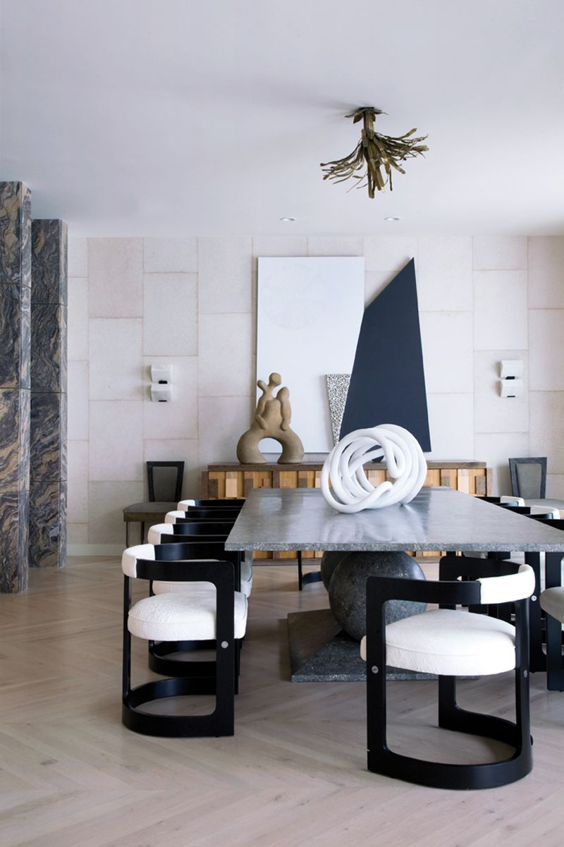 Modern Dining Room Table Decor, Kelly Wearstler Dining Room Chairs