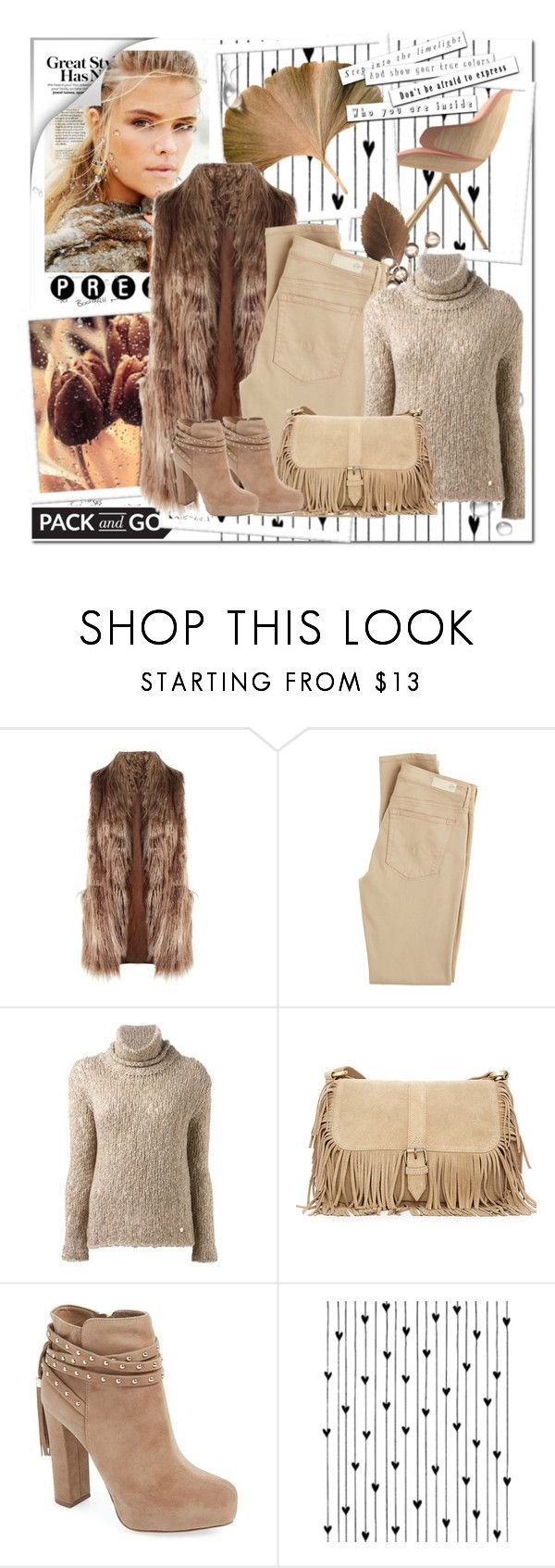 """""""Tuesday Outfit Idea"""" by andrejae ❤ liked on Polyvore featuring Related, AG Adriano Goldschmied, Woolrich, Jessica Simpson, Camp, outfit and outfitidea"""