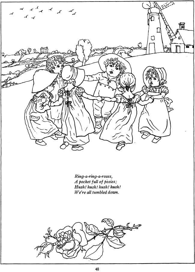 kate greenaway u0026 39 s mother goose coloring book dover publications
