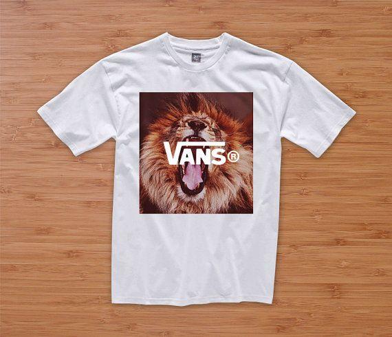 406089dd9b VANS LION tshirt hipster dope tumblr prada chanel shirt quote ...