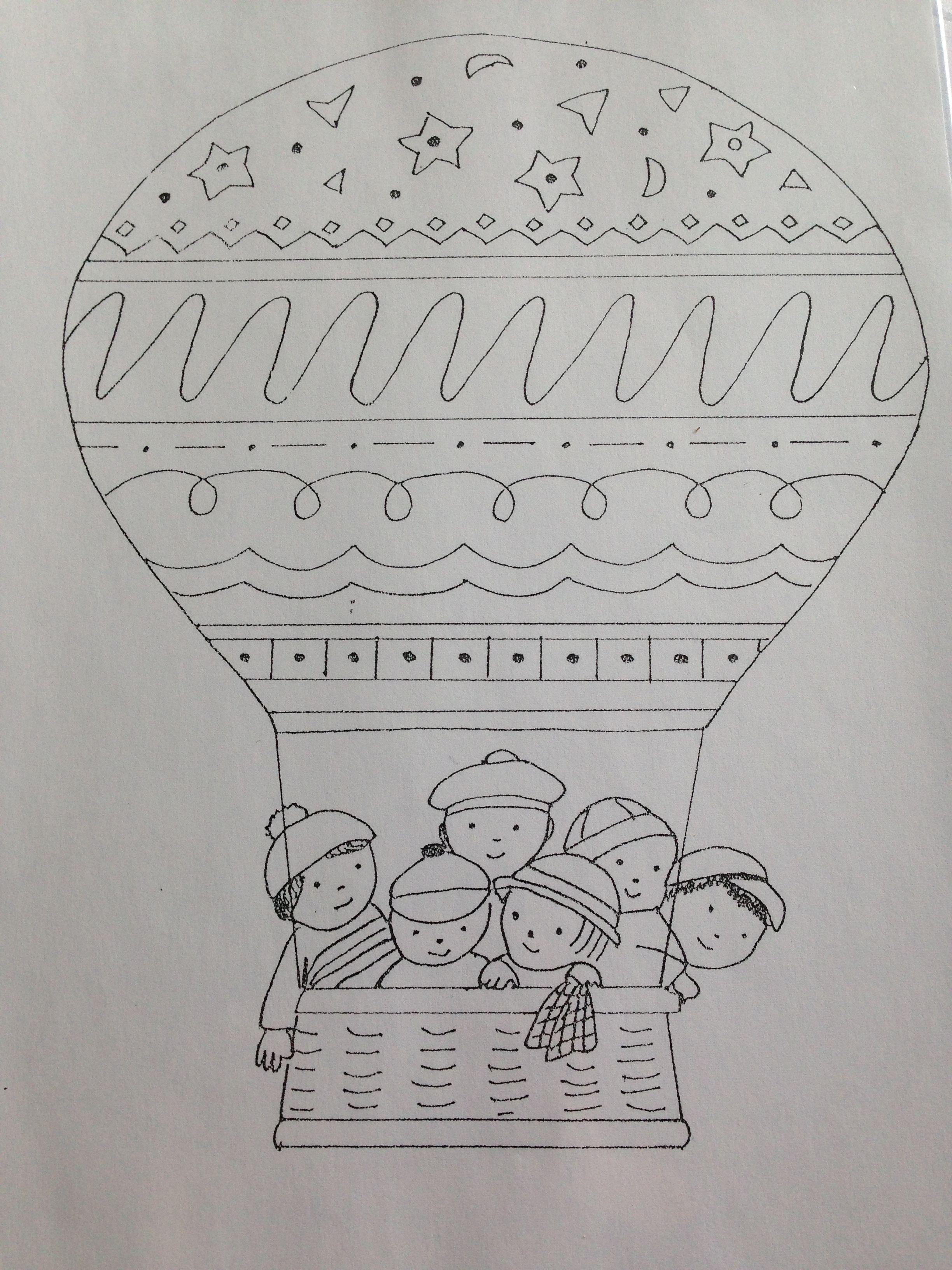 Luchtballon Kleurplaat Schrijfpatronen Welkom Thuis Schrijfhoek Luchtballon