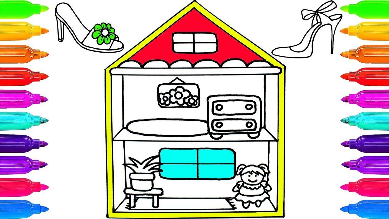 Como Dibujar y Colorear Una Casa de Muñecas ✏ Dibujos Para Niños ...