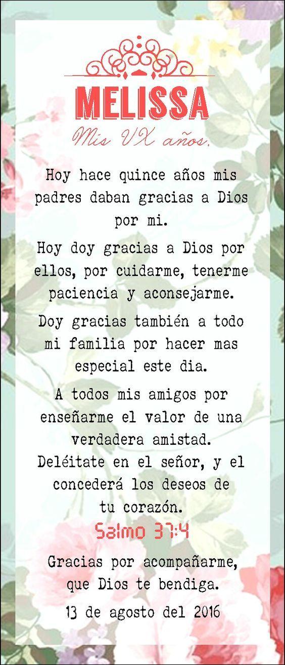 Oración Vx 15 Años Misa Flores Rosa Coral