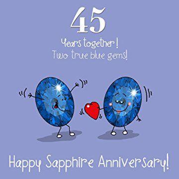 45th Wedding Anniversary Greetings Card